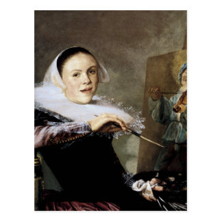 Self-Portrait at the Easel Postcard