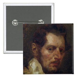 Self portrait 15 cm square badge