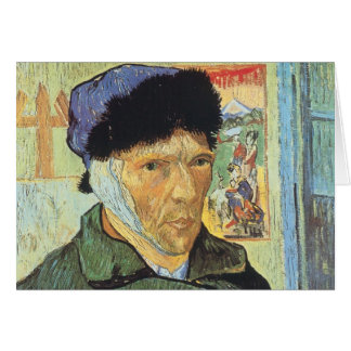 Self Portrait, Bandaged Ear by Vincent van Gogh Card