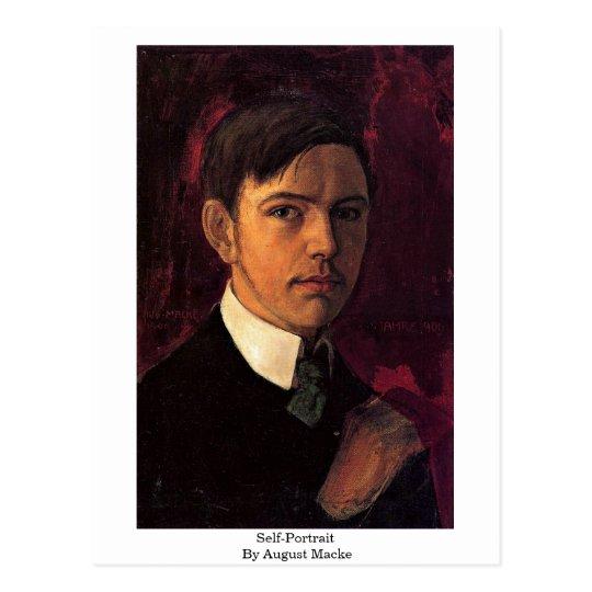 Self-Portrait By August Macke Postcard