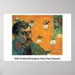 Self-Portrait By Eugene Henri Paul Gauguin Poster