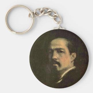 Self-Portrait By Grigorescu Nicolae (Best Quality) Key Chains
