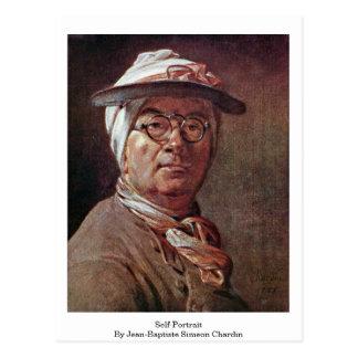 Self-Portrait By Jean-Baptiste Simeon Chardin Postcard