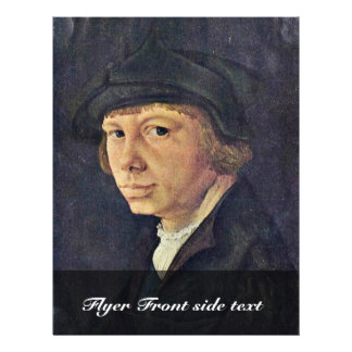 Self-Portrait By Lucas Van Leyden (Best Quality) Full Color Flyer