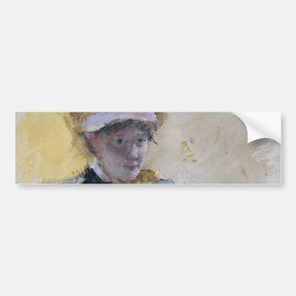Self-Portrait by Mary Cassatt Car Bumper Sticker