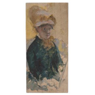 Self-Portrait by Mary Cassatt Wood USB 2.0 Flash Drive