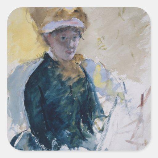Self-Portrait by Mary Cassatt Stickers