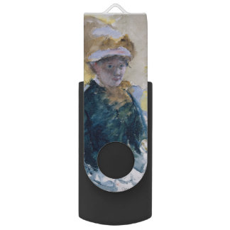 Self-Portrait by Mary Cassatt Swivel USB 2.0 Flash Drive