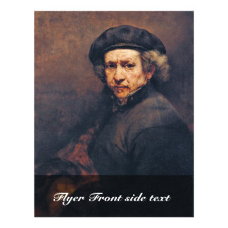 Self-Portrait,  By Rembrandt (Best Quality) Full Color Flyer