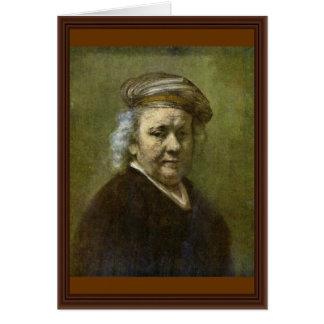 Self-Portrait  By Rembrandt Van Rijn Card