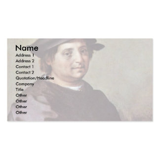 Self-Portrait By Sarto Andrea Del Double-Sided Standard Business Cards (Pack Of 100)