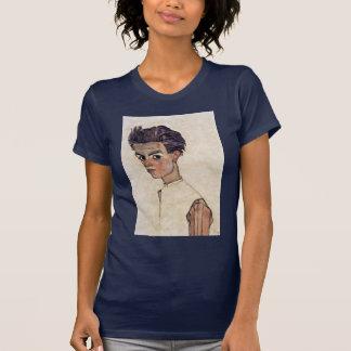 Self-Portrait By Schiele Egon T-shirts