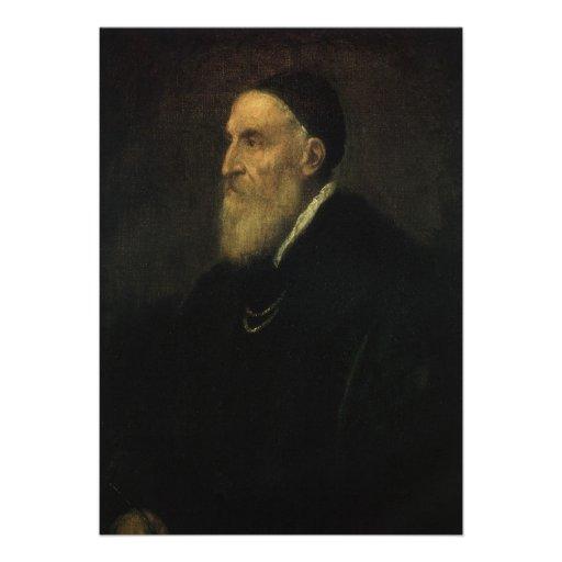 Self Portrait by Titian, Renaissance Art Invitations