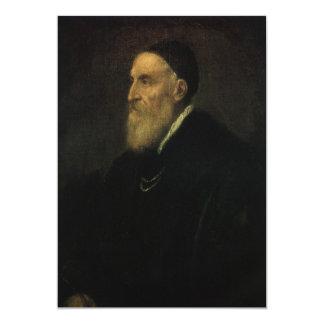 Self Portrait by Titian, Renaissance Art 13 Cm X 18 Cm Invitation Card