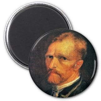 Self Portrait by Vincent van Gogh 1886 6 Cm Round Magnet