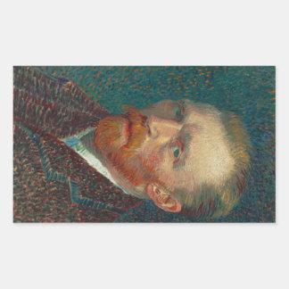 Self Portrait by Vincent Van Gogh 1887 Rectangle Stickers