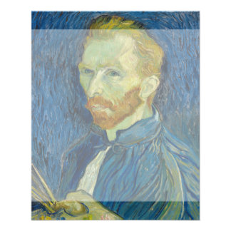Self Portrait by Vincent Van Gogh 1889 11.5 Cm X 14 Cm Flyer
