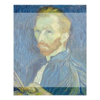Self Portrait by Vincent Van Gogh 1889 11.5 Cm X 14 Cm Flyer