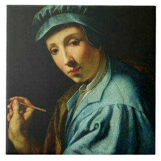 Self Portrait, c.1555 (oil on panel) Tile