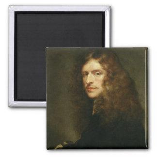 Self Portrait, c.1652 Square Magnet
