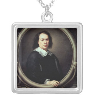 Self portrait, c.1670-73 silver plated necklace