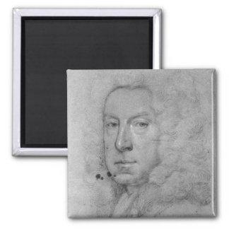 Self Portrait, c.1738 Square Magnet