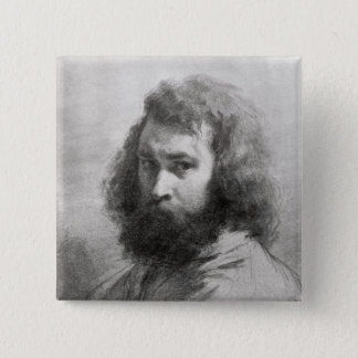 Self Portrait, c.1845-46 15 Cm Square Badge