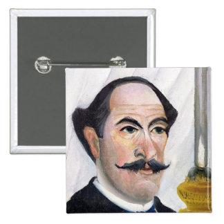 Self portrait, c.1900-03 15 cm square badge