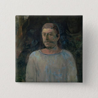 Self portrait, close to Golgotha, 1896 (oil on can 15 Cm Square Badge
