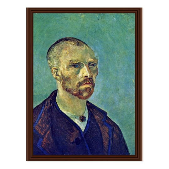 Self-Portrait Dedicated To Paul Gauguin)  By Vince Postcard