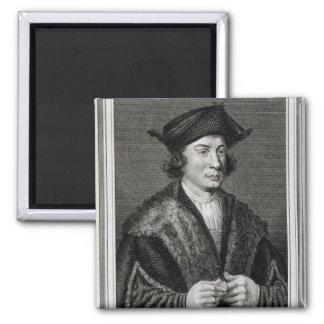 Self Portrait, engraved by J. Corner (engraving) Magnet