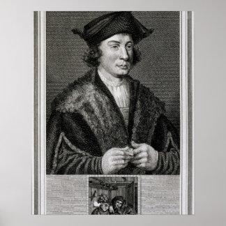 Self Portrait, engraved by J. Corner (engraving) Poster