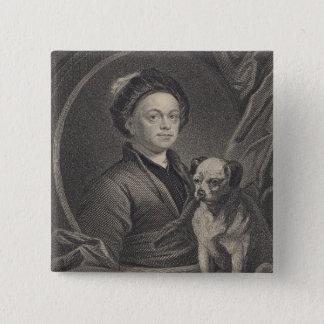 Self Portrait, engraved by J. Mollison 15 Cm Square Badge