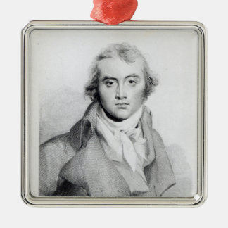 Self Portrait, engraved by J. Worthington Christmas Ornament