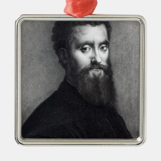 Self Portrait, engraved by Jean-Louis Potrelle Christmas Ornament
