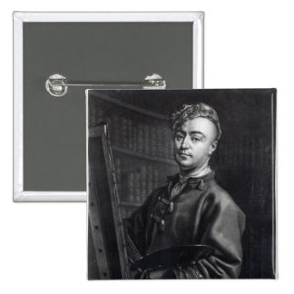 Self Portrait, engraved by John Faber, 1735 15 Cm Square Badge