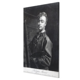Self Portrait, engraved by John Faber, 1735 Canvas Print