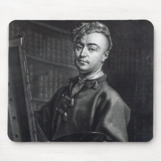 Self Portrait, engraved by John Faber, 1735 Mouse Pad