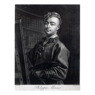 Self Portrait, engraved by John Faber, 1735 Postcard
