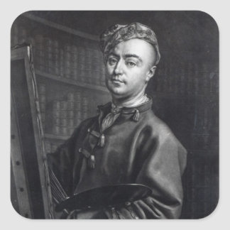 Self Portrait, engraved by John Faber, 1735 Square Sticker