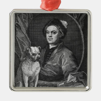 Self Portrait, engraved by T. Cook, 1809 Silver-Colored Square Decoration