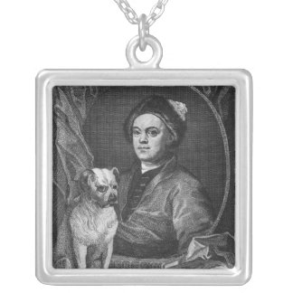 Self Portrait, engraved by T. Cook, 1809 Silver Plated Necklace