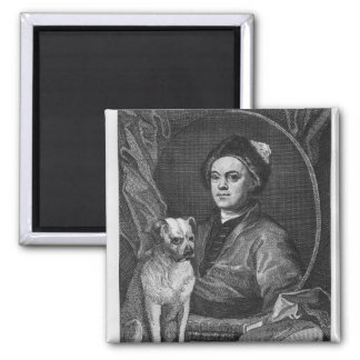 Self Portrait, engraved by T. Cook, 1809 Square Magnet