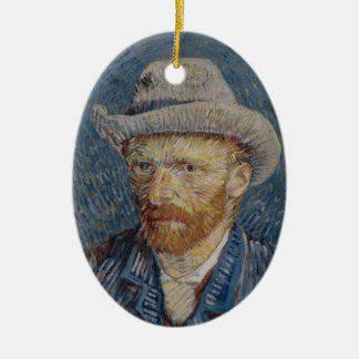 Self-Portrait Grey Felt Hat Van Gogh Fine Art Ceramic Oval Decoration