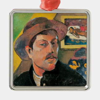 Self Portrait in a Hat, 1893-94 Christmas Ornament