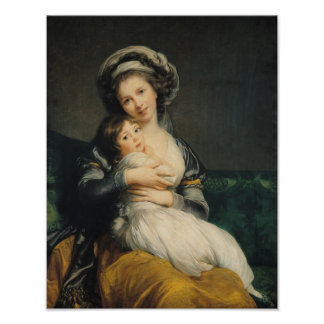 Self portrait in a Turban with her Child, 1786 Poster