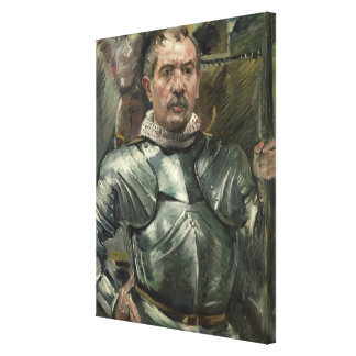 Self portrait in armour, 1914 canvas print