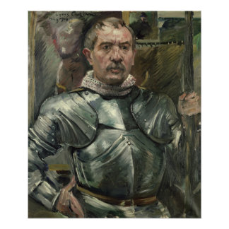 Self portrait in armour, 1914 poster