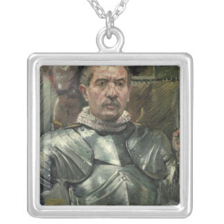 Self portrait in armour, 1914 silver plated necklace
