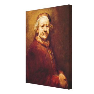 Self Portrait in at the Age of 63, 1669 Canvas Print